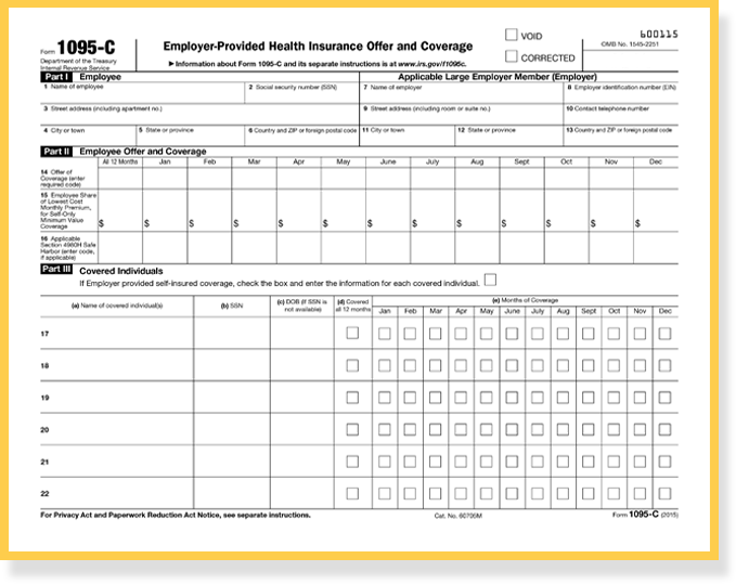 An Introduction To The Irs Aca Reporting Forms For Employer Reporting